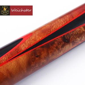 Image 3 - Weichster One 1Piece Handmade English Pool Cue Eucalyptus Burl Wood 8.0mm 8.5mm Ebony Cue with Case Set