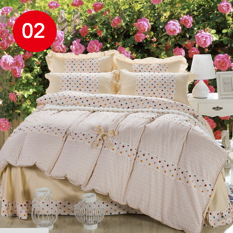Housse De Couette Romantique. Coton Biohousse De Romantique With ...