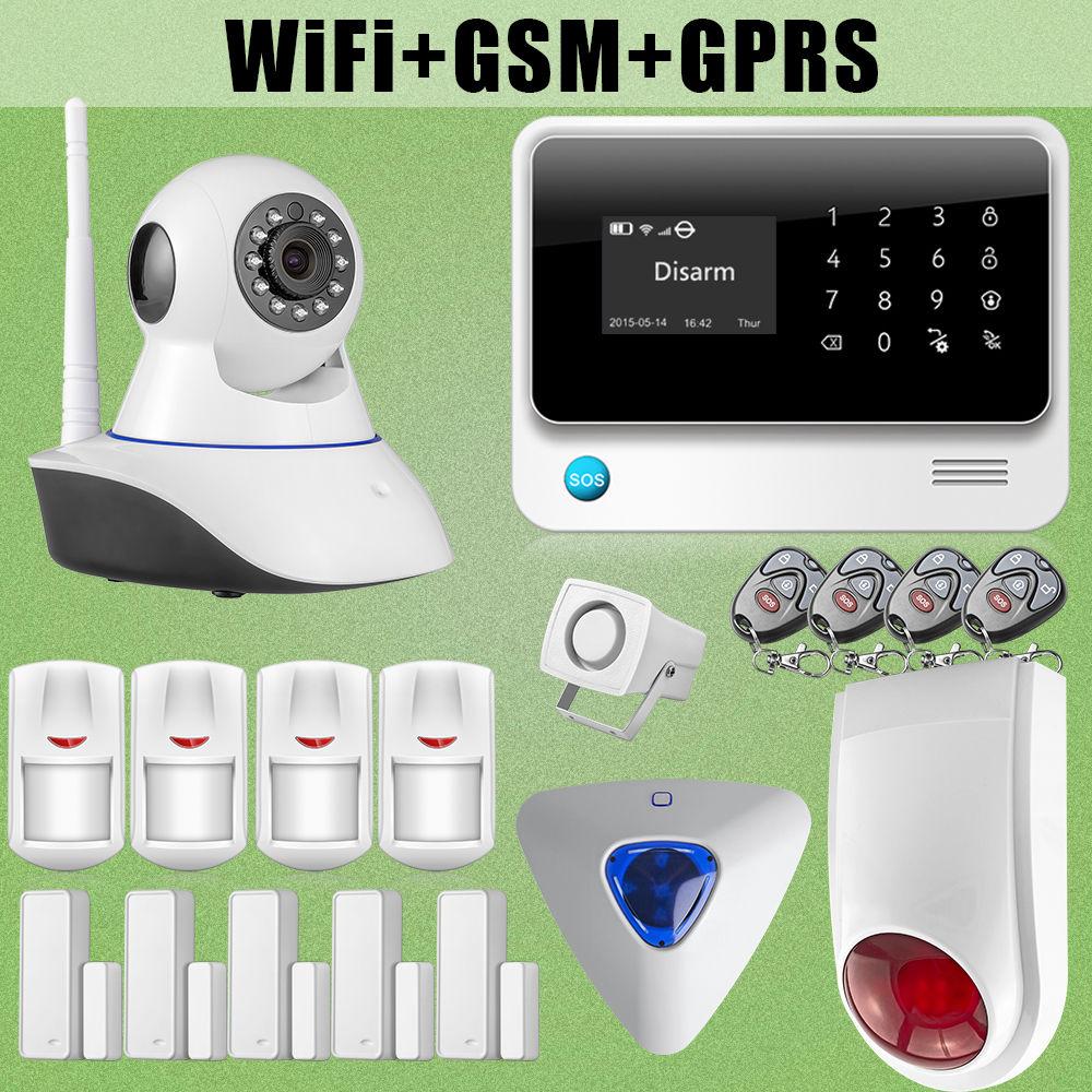 Etiger Network Camera G90B WiFi Wireless GSM Burglar Alarm Intruder Outdoor font b Flash b font