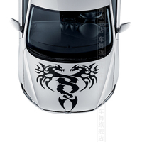Two Dragons Pattern Car Hood Decor Sticker Fashion Car Head Stickers And Decals For Any Car