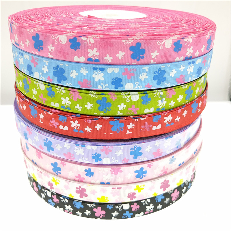 10mm x 10mtrs  Saddle Stitch Grosgrain Ribbons  /<19 colours/>  FREE DELIVERY