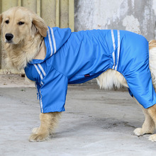 Reflective Dog Raincoat Medium Large Dog Clothes Pet Rain Coat For Dogs Slicker Waterproof Overalls For Dogs Pets Clothing