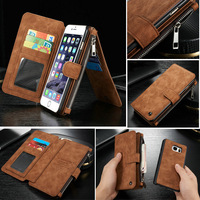 Multi Functional 14 Cards Holder Wallet Case Cover For Apple IPhone 6 Plus 6S Plus Luxury