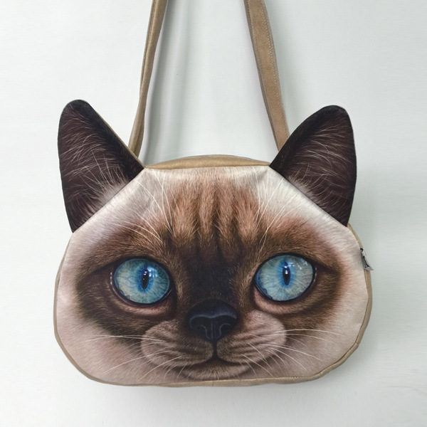One Shoulder Bags Imitation Leather Handbag Messenger Bag Lovely Female Size Cute Cat Anime Purse 3d Women Sling In From Luggage