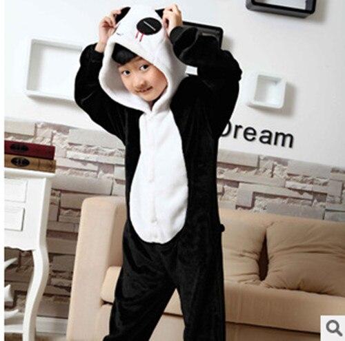 New Baby Boys Girls Pajamas Autumn Winter Children Flannel Animal funny animal  Pajamas Kid Sleepwear Home clothes Panda