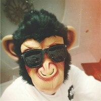 1 pcs de Alta Qualidade Látex Máscara De Cabeça de Macaco Gigante Animais Cabeça o Dia Das Bruxas Cosplay Traje Assustador Máscara de Látex Máscara De Silicone Realista-B
