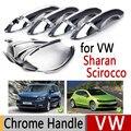 Чехлы для VW Sharan Scirocco  роскошные хромированные Чехлы для наружных ручек дверей Volkswagen  аксессуары  наклейки для стайлинга автомобиля  Лидер пр...