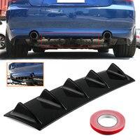 Vehemo 5 Wings Black Replaceable Universal Rear Bumper Deflector Auto Parts Vehicle Shark Fin Spoiler Shark Fin