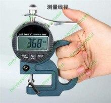 Высокое качество 0 — 12.7 мм / 0.5 дюймов цифрового набора толщиномер электронный толщина 0 — 10 мм