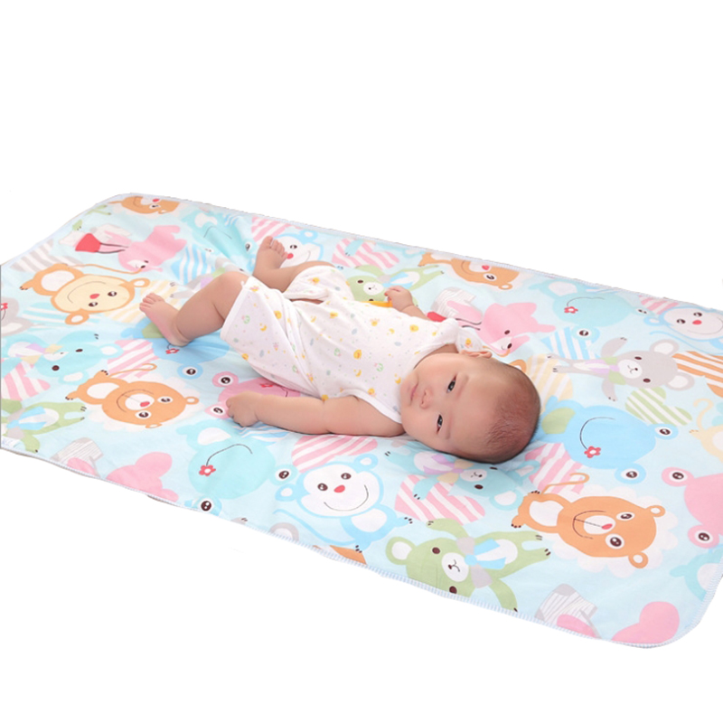 Cartoon Cotton Diaper pad Baby Waterproof Mat Large Baby Mat Cover Infant Urine Pad Mattress Sheet Protector Bedding YYT305 new baby dinner mat eating chair seat pad cover waterproof highchair bumper pad place mat preventing baby from throwing food bib