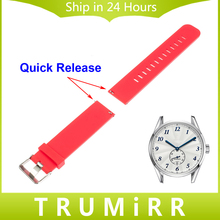Quick Release Silicone Watch Band 18mm 19mm 20mm 21mm 22mm for TAG Heuer Carrera Aquaracer Men Women Rubber Strap Wrist Bracelet