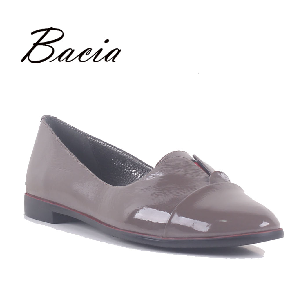 Bacia Flats 1.3cm Low heel Handmade Shoes Genuine Leather Leisure Loafers Soft Leather Women Causal Flats Size 35-41 2017 SB043