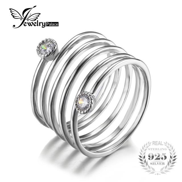 Jewelrypalace moda auténtica plata de ley 925 cubic zirconia aniversario band anillo apilable 2016 nueva joyería fina para las mujeres