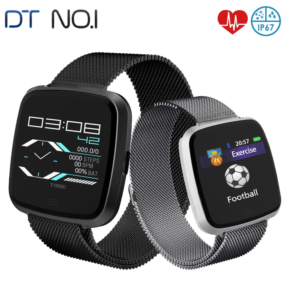 DTNO I G12 Smart Watch Calorie Burnt Pedometer Heart Rate Monitor Multi Sport IP67 Waterproof Sports