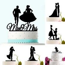 الاكريليك كعكة الزفاف توبر العروس العريس السيد Mrs الاكريليك كعكة توبر الحلو الزفاف الديكور Mariage لوازم الحفلات الكبار المفضلة