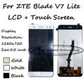 100% Test Black/White/Gold For ZTE Blade V7 Lite LTE Touch Screen Digitizer + LCD Display Assembly Replacement Free shipping
