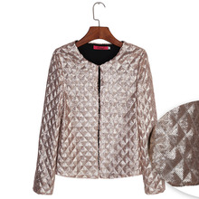 Fashion Gold Silver Sequins Zipper Bomber Jacket Women Short Jacket Spring Autumn Coats 2xl Casual Tops Female