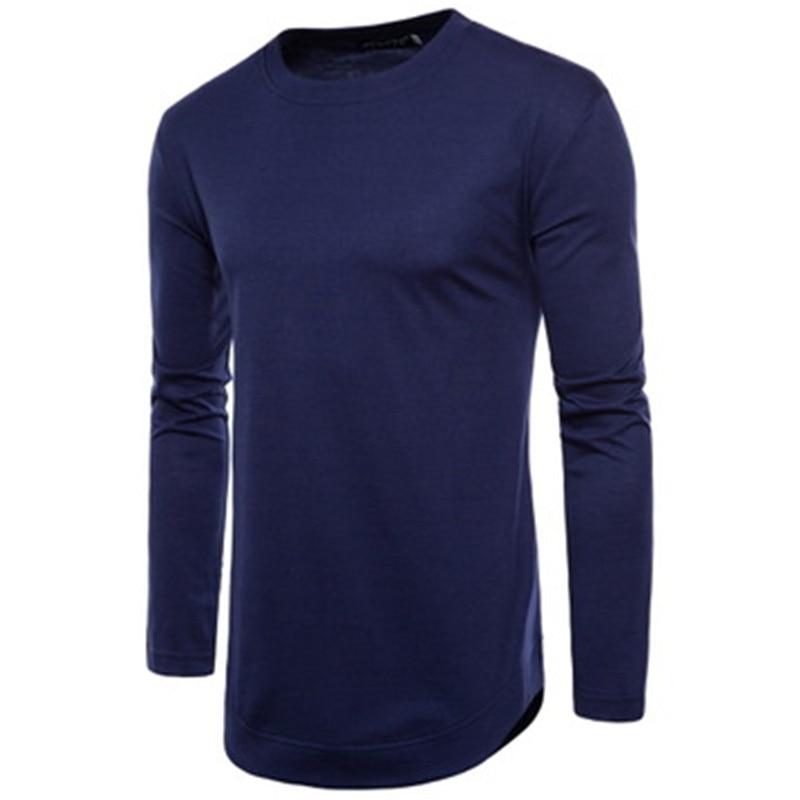 2018 frühling neue flut männer lange ärmeln einfarbig T-shirt bodenbildung shirt WXL03