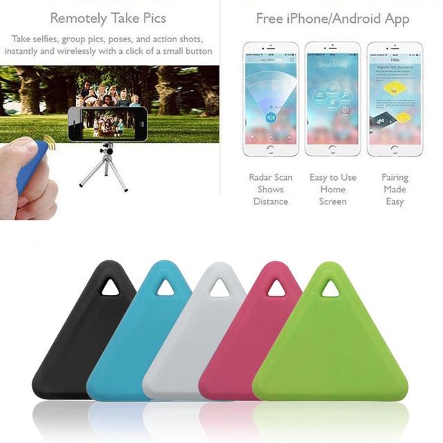 Mini traqueur GPS intelligent pour animaux de compagnie Anti-perte étanche Bluetooth traceur Triangle clés portefeuille sac enfants traqueurs équipement de recherche #30