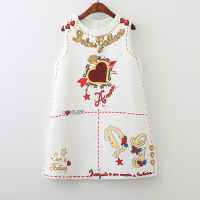 2018 New Spring And Autumn Fashion Baby Girls Dresses Letter Love Pattern Princess Dress Children Clothes