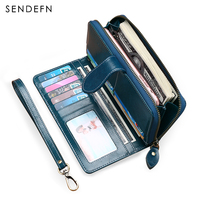Buy 1 Get 1 Free Fashion New Wallet Split Leather Wallet Female Long Wallet Women Zipper
