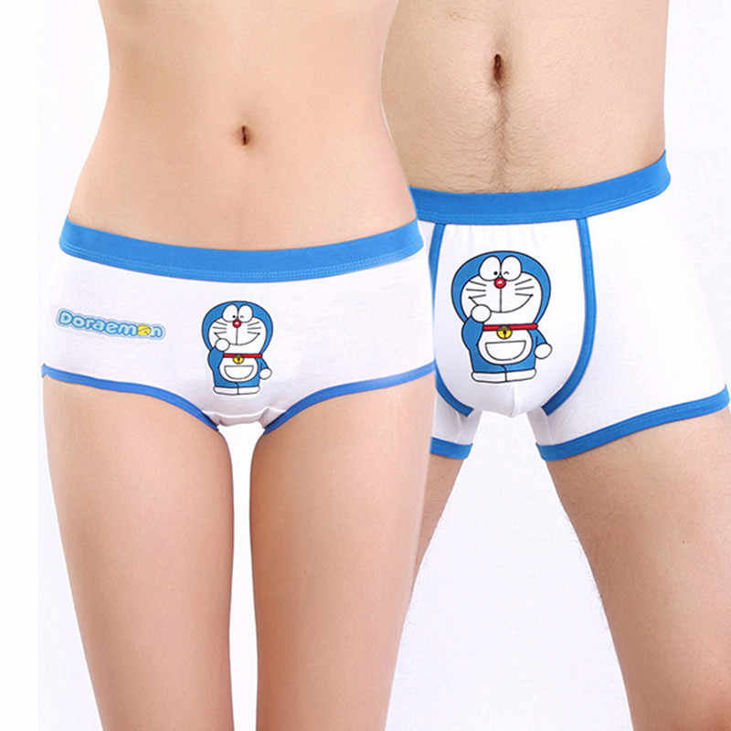 c3b911bffeb Couple Funny low rise Cotton Boxers Men Cartoon For lovers Couples Underwear  Mens Cueca Boxer Shorts