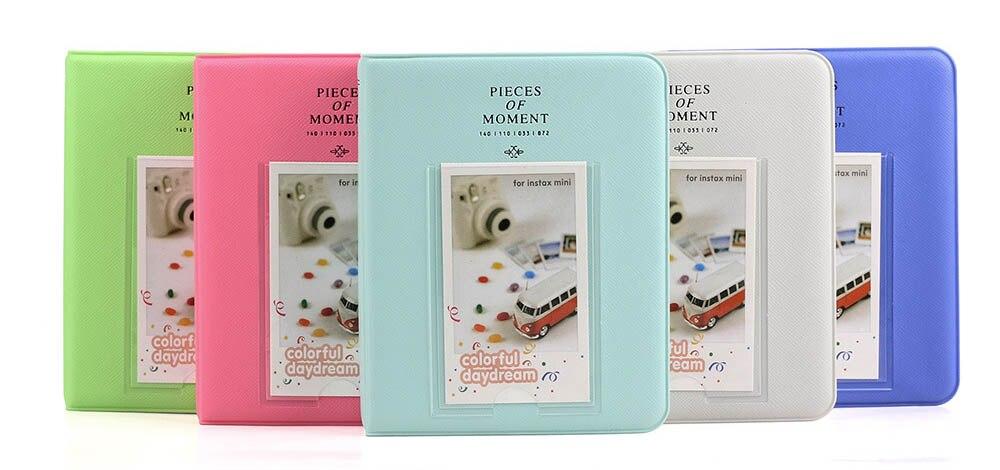 64 pochettes 3 pouces Mini Film Album Photo livre pour Fujifilm Instax Mini 9 8 7 s 70 25 50 s 90 appareil Photo instantané porte-badge