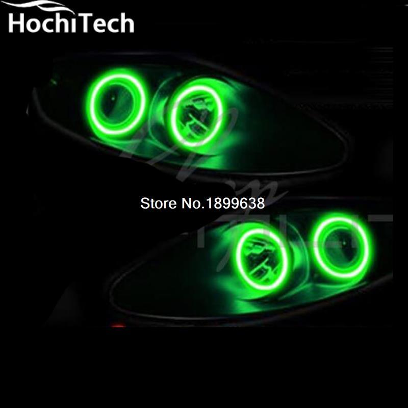 за 2004-2006 Фольксваген Туарег RGB светодиодные Ангел глаза комплект с пультом дистанционного управления стайлинга автомобилей из светодиодов гало кольца фары лампы