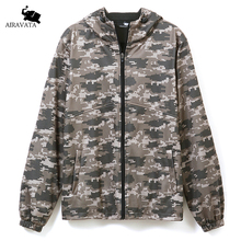 Brand Clothing Mens Camouflage Printing Zipper Hoodies With Front Pockets Coat Mens Heavy Fleece Hoodie Forest Printing Jacket