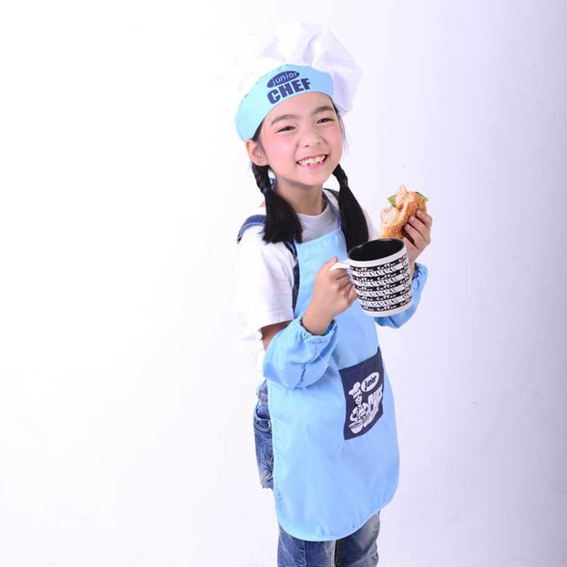 Detail Feedback Questions About Cute Children Apron Fashion Chef Hat