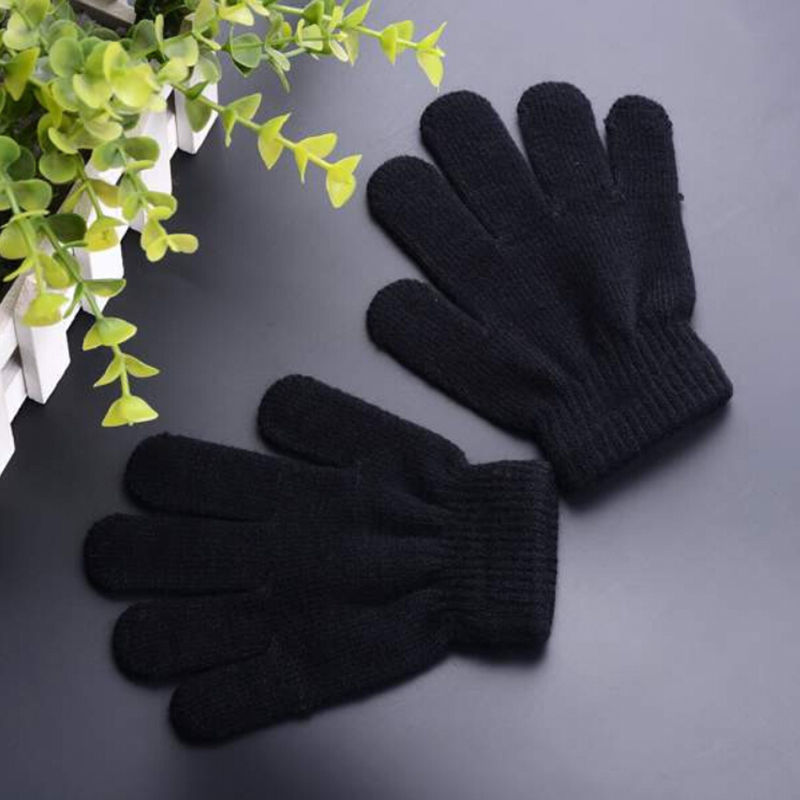 Children Magic Gloves /& Mittens Girl Boy Stretchy Knitted Winter Warm Fashion