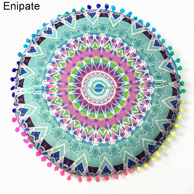 2017 Belgium Mandala Tapestry Flower Floor Pillow Cover Boho Ethnic ...