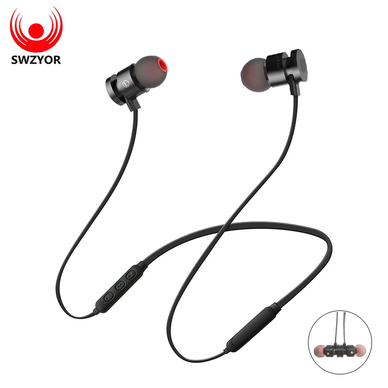 SWZYOR K01 Metal Magnetic Wireless Headphone Bluetooth Earphone Headphone For Phone Neckband Sport Earphone Auriculare CSR 4.1