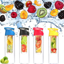 Soffe Bpa Free Plastic Brief Fruit Water Bottle With Tea Infuser 800ml Juice Maker Camping Travel Sports Drinking Water Bottles