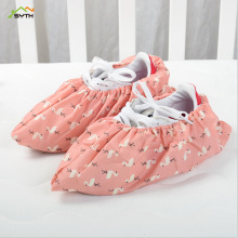 1Pair Thicken Reusable Elastic Shoe Cover Home Indoor Antiskid Overshoes Student Machine Room Flamingo Dust Proof Feet Covers