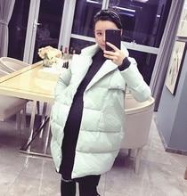 Отрезок ватник лацкан беременные корейской толстый зимой длинный материнства пальто хлопок