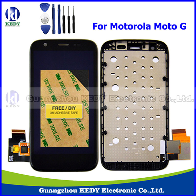 New Original LCD Replacements for Motorola MOTO G XT1032 XT1033 LCD Display Touch Digitizer Screen with Frame Assembly + Tools new original lcd replacements for motorola moto g xt1032 xt1033 lcd display touch digitizer screen with frame assembly tools
