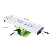 1pc Multifunctional Working Table Aluminum Alloy Vise Fixture Adjustable Worktable For Bench Drill