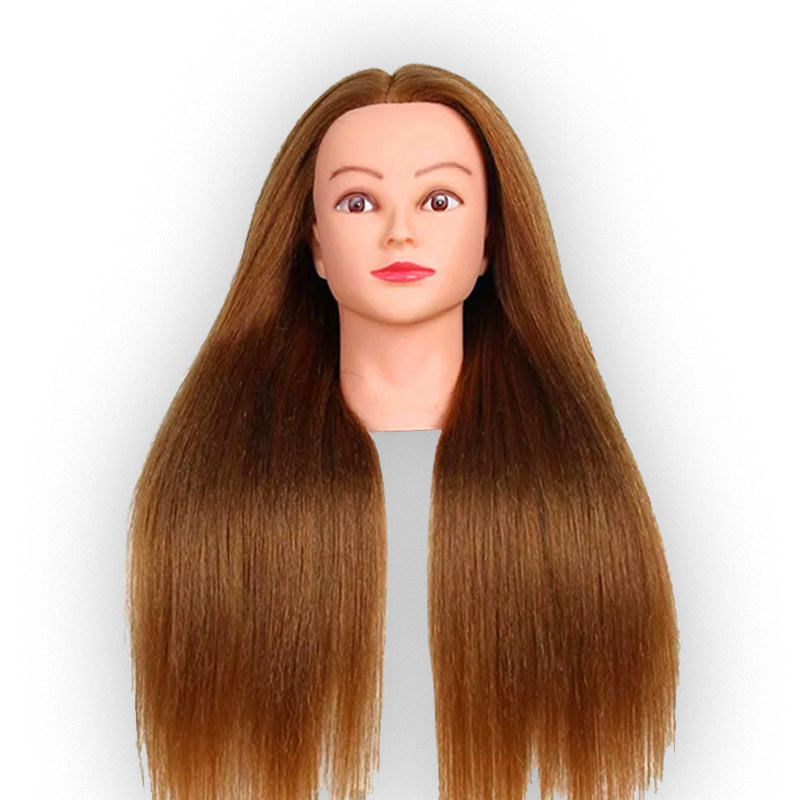 22 pouces cheveux humains coiffures formation cosmétologie Mannequin tête Salon de coiffure Mannequin tête coiffure tête Mannequin
