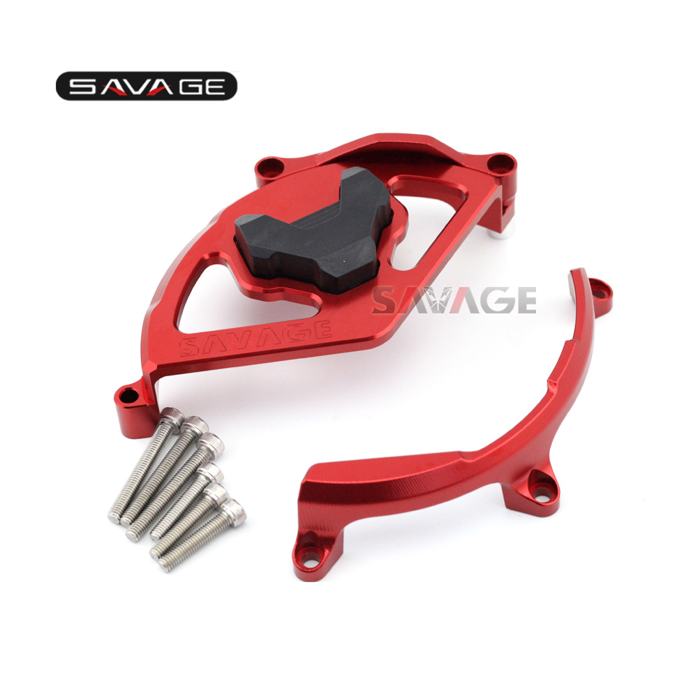 MOTORCYCLE ALUMINUM CNC CLUTCH COVER PROTECTION RED FOR DUCATI 959 Panigale/1199 Panigale/1299 Panigale 2012-2017 motorcycle tail tidy fender eliminator registration license plate holder bracket led light for ducati panigale 899 free shipping