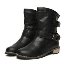 Hot Fashion 1 pair Women's Ladies Shoes Boots Ankle Boots Bota Riding Boots Casual Ladies Martin Boots(China)