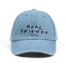 48126564be393 Washed Denim Real Friends Hat Trending Rare Baseball Cap I Feel Like Pablo  Dad Hat Snapback