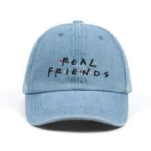 b17ce677538 Washed Denim Real Friends Hat Trending Rare Baseball Cap I Feel Like Pablo  Dad Hat Snapback