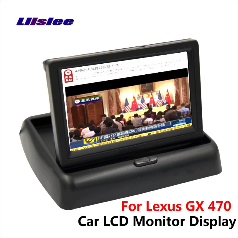 Liislee For Lexus GX 470 Foldable Car HD TFT LCD Monitor Color Screen Display / 4.3 inch / NTSC PAL Color TV System