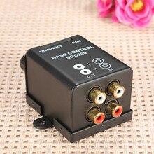Maison de voiture Universel À Distance Niveau Amplificateur Basse Contrôleur RCA Niveau de Gain Contrôle Du Volume Bouton Booster