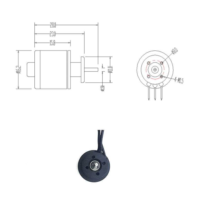 US $18.55 25% OFF|QX Motor 30mm 6 Blades Ducted Fan EDF QF1611 5000KV on