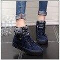 Женская Мода Зима Короткий Сапоги добавить шерсть хлопок обувь с толщиной холст обувь досуг теплые студенты с плоскими обувь