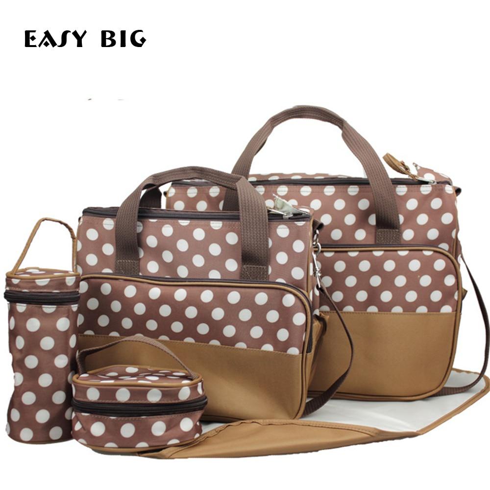 EASY BIG 5 IN 1 36-55L Rainproof Nappy Bags Set Durable Tote Diaper Bags Baby Bags Mummy Maternity Bags BCS0014 dugadi dzrzvd 36 55l