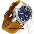Мужские наручные часы с синим циферблатом  сапфировое стекло  43 мм  parnis  miyota 821A