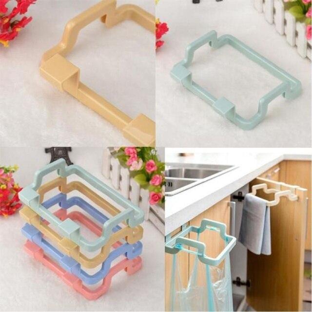 Hot Sale Creative 4 Colors Available Plastic Trash Bag Holder Rack Storage  Rack Cabinet Garbage Bag